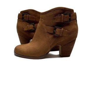Crown Vintage boots ankle booties shoes brown 8.5